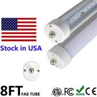 Wholesale Fluorescent Tube Lamp Ballast - 8FT T8 LED Tube Light FA8 Single Pin 45W 8 ft LED Tubes Bulb Lamp 8 feet 2.4M Fluorescent Tube Ballast Bypass