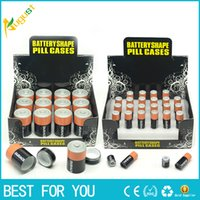 Wholesale Box Battery Aa - Hot sale Battery Secret Stealth Stash Diversion Safe AA Battery Pill Box Hidden Container Case Gift New