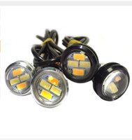 Wholesale Led Eye Amber - 10Pair 23mm LED Eagle Eye Light 5730 4SMD Dual Color Switchback White&Amber Vehicle DRL Lignt wholesale