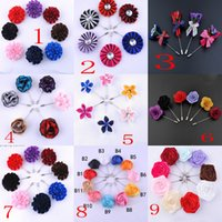 Wholesale Vintage Tie Pins - 2017 Fashion NEW Style Vintage Classics Men's Fashion Tie Suit Colorful Handmade Boutonniere Stick Brooch Pin - Free Shipping + Free Gift