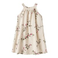 Wholesale 2017 INS baby girl toddler Big Kids Adults Summer clothes Beige Blue Rose Floral Dress Jumper Jumpsuits Halter Neck Sleeveless Vest Bow