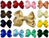 """Wholesale velvet clips - 5"""" Velvet Boutique Chunky hair bow Clip headwear Headdress girl 16PCS  lot"""