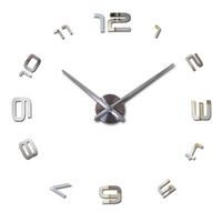 Wholesale wall clock decorative mirror - Wholesale-2016 Special Offer Sale New Acrylic Mirror Clock Watch Wall Stickers Clocks Pared Horloge Large Decorative Quartz Living Room