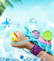 Water Gun blue environmental - Summer Hot Water Toys for Children Wrist Sprinkler a Range of About Meters ABS Environmental Protection Plastic Material Elephant Pistol