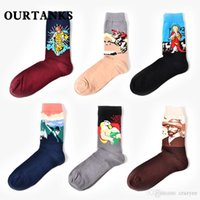 Dropshipping New Fashion Cotton Art Peinture à l'huile Harajuku Washington Davi Male Female Cupid Retro Style chaussettes femme Chaussettes Homme