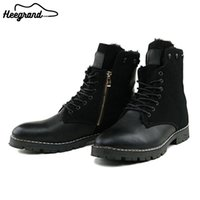 Wholesale man riding boots - Wholesale-Men Casual Ankle Boot Shoes Fashion Winter Warm Riding Equestrain Boots Round Toe Leather High Quality Shoes XMX254