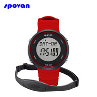 Wholesale Heart Pulse Watch Chest Strap - Mens Watch LED Clock Men Women Wireless Pulse Heart Rate Monitor with Chest Strap Fitness Exercise Military Sport Digital Watch