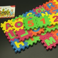spanish baby toys - a Spanish letters toys Kids baby puzzle mats MM Spanish alphabet and numbers eva puzzle education