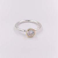 sterling silber kreis ring großhandel-Authentische 925 Sterling Silber Perlen Petite Circle Ring für Europäische Pandora Style Schmuck Armbänder Halskette 191043CZ