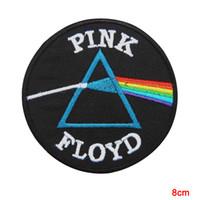 jackets for embroidering al por mayor-El lado oscuro de Pink Floyd de la luna cose el hierro en el parche Chaleco bordado Chaqueta de dibujos animados Revestimientos de ropa minada