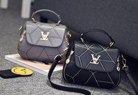 Wholesale Europe Style Handbag - 2017 spring and summer new handbag simple V-shaped handbag small bag Europe and the United States the trend of shoulder Messenger bag