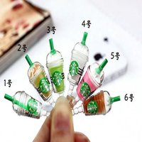 Free Ship 50pcs Coffee Cup Dustproof Ear Cap Plug Plug Fone de ouvido Anti-dust Plug para iphone 4 / 4S 5G