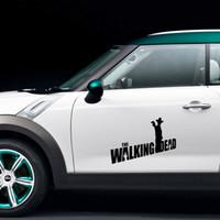 ingrosso parola auto di jdm-Grafica cool Car Stying Zombie Personalità Crisi biochimica Parola Walking Dead Styling Body Vinile Adesivo per auto Jdm JDM