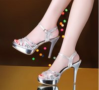 Wholesale Low Heel Gold Dress Sandals - 2017 New Designer Pointed Toe Studs high heels Patent Leather Sandals Women Studded Strappy Dress Shoes valentine high heel Shoes SX23