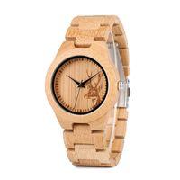 ingrosso scatola di legno del giappone-BOBO BIRD Bamboo Wood Orologi Donna Fashion Watch Custom Drop Shipping Orologi al quarzo giapponese in confezione regalo