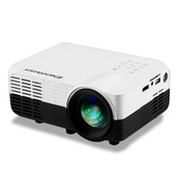 Vente en gros-Excelvan LED2018 Portable Home Projecteur 640 * 480 1200Lumens LCD Projecteur LED Avec entrée HDMI / USB / AV / VGA / TV / DVB-T2 / carte SD