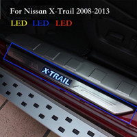Wholesale led door sill plates - For Nissan X-Trail T31 Scuff Plate External Door Sill LED Cover Trim Welcome Pedal Decoration X Trail 2008 to 2013 Accessories