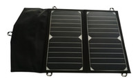 carregador de célula solar iphone venda por atacado-14 Watt Maior Eficiência SUNPOWER Painel Solar Dobrável Carregador Solar Portátil para iPhone / Samsung / LG / Xiaomi / iPad / Banco De Potência