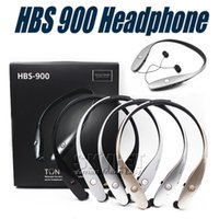 Wholesale Bluetooth Neckband Stereo Headset - HBS900 Bluetooth Headphones HBS 900 Wireless Sport Neckband Headset Headphones Bluetooth Stereo Earphone For Iphone X 8 With Retail Package