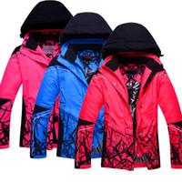 Wholesale Cheap Winter Waterproof Jackets - Wholesale- Cheap Price Women or Men Ski Jacket Outdoor Snowboarding Jacket Waterproof Windproof Winter Jacket for Lovers Thermal Coat