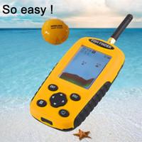 Wholesale Matrix Fish Finder Sonar - 2017 Portable Wireless Sonar Dot Matrix Fish Finder Sonar Radio Sea Contour River Lake Alarm 120g Fishing Tackle