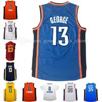Wholesale Manning S - cheap men's new 13# paul george jersey 35# kevin durant jersey 0# russell westbrook basketball jerseys 100% stitched free fast shipping
