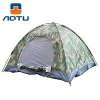 камуфляж летние палатки оптовых-Вогнутый выпуклый камуфляж открытый кемпинг палатка 3-4 кемпинг открытый водонепроницаемый 4 сезон складной палатка камуфляж туризм 90