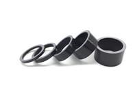 Wholesale Bike Washers - Factory outlet 5Pcs Carbon Fiber Washer Bike Bicycle Headset Stem Spacers Kit For Bike Fix Refit 5 Shape 3mm 5mm 10mm 15mm 20mm