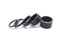 anilhas de fibra de carbono venda por atacado-Tomada de fábrica 5 Pcs De Fibra De Carbono Máquina de Lavar Bicicleta Headset Stem Espaçadores Kit Para Bicicleta Fix Reequipamento 5 Forma 3mm 5mm 10mm 15mm 20mm