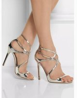 Wholesale Pvc Dress Models - Italy Top Designers Wedding Dress Sandals High Quality Women High Heels Sexy Sandals J Lance Model Pumps Party Gift