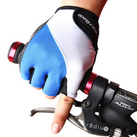 equipo de ciclismo de carretera al por mayor-Wolfbike Glove Respirable Mountain Road Ciclismo Guantes Hombre Antideslizante Verano Nuevo Medio dedo Bicicleta Mitón Equipo 21 98 g