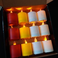 Wholesale Romantic Flameless Candles - LED Candles Flameless Remote Christmas Candle Romantic Wedding Scented Large Candles With Remote Control Colorful Gift