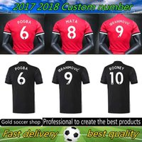 Wholesale 2017 Man United best Thai Quality home away jerseys Ibrahimovic MEMPHIS ROONEY POGBA Soccer jersey