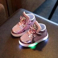 online Shopping Led Luminous Shoes - Lovely Little Girls Led Lights Shoes Children Glowing Flashing Sneakers Luminous Kids Princess Shoes With Up Toddler 1