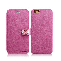 Wholesale Clamshell Wholesale - Butterfly Buckle Phone Case For Iphone 7 6 6s Plus Samsung S7 Edge Silk Clamshell Grain Card Slot Natural Silk Pattern Stand Case OPPBAG