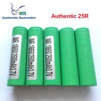 Wholesale E Got - Genuine Guarantee - Authentic Samsung 25R 18650 High Drain Battery For E Cigarette Box Vape Mods (Ten-Time Compensation If U Get Fake 25R)