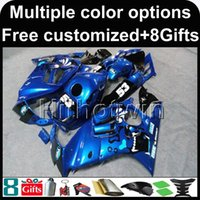 Wholesale F3 Body Fairings - 23colors+8Gifts Body Kit blue ABS Fairing For honda CBR600F3 1995-1996 F3 95 96 Aftermarket Motorcycle