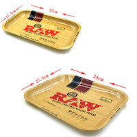 Placa Central Baratos-Raw Tray Tabaco Spice Tin Rolling Tray Placa Cigarrillo grande y medio Cigarrillo Multifunción Accesorios para fumar Handroller