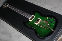 Wholesale Custom Instrument - New Arrival blue Custom Shop Electric Guitar green Shipping Musical instruments
