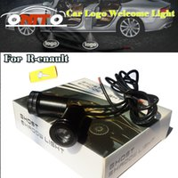 Wholesale Renault Megane Lights - 4th Car logo Light Emblem Laser Door Bulb Auto Ghost Shadow Lamp For Megane Clio Laguna Twingo Espace