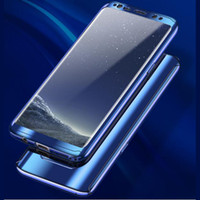 Wholesale mirror protection covers for sale - Group buy Ultra Thin Luxury Electroplate Case Full Body Protection Cover Plating Mirror Shockproof PC with Screen Protector for Iphone Galaxy S9