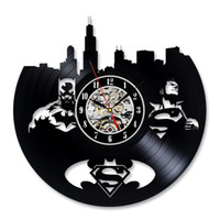 Orologio da parete del vinile Record Superman Batman Idea regalo per gli adulti
