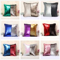 Wholesale Patchwork Sofa Covers - 24pcs Fashion gift Magic Glamour Bright Sequin Mermaid Pillows chair Covers decorative Cushion Home Sofa Car style with suede