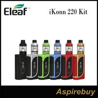 Wholesale Original Options - Eleaf iKonn 220 Kit 220W iKonn 220 Box Mod with ELLO Atomizer 2 4ML 2 Options 0.91-inch Screen with Dual Battery Bars100% Original
