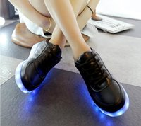 Unisex spring usb boot - Skate kids skateboard LED shoes Camping Hiking basketball shoes Mens Dancing boots size usb power Energy charge