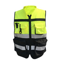 Wholesale Reflective Motorcycle Jackets - Reflective safety clothes Motorcycle Bicycle Racing High Visibility Reflective Warning Cloth Jacket Vest