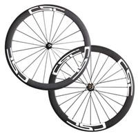 Wholesale carbon bicycle wheels sales resale online - Hot sale CSC mm width Rim Clincher wheelset mm mm mm full carbon road bicycle wheels black red Wheels
