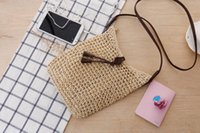 Wholesale Houndstooth Party Dress - raw woven shoulder bags women fashion bags messenger bags with metal chain