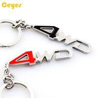 Wholesale Toyota Keys Chain - Car Key Chain Logo Brand 4WD Emblem Badges for nissan audi opel toyota ralli art bmw 3D Metal Car Logo Keyring