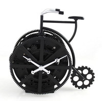 Wholesale Clock Bike - Wholesale-Creative Retro Bike Model Gear Desk Clock Ornament Art and Craft Accessories Embellishment Furnishing for Decoration and Present
